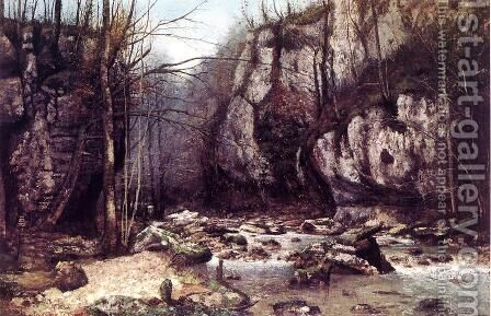 The Stream of the Puits-Noir at Ornans by Gustave Courbet - Reproduction Oil Painting
