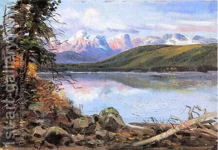 Lake McDonald by Charles Marion Russell - Reproduction Oil Painting