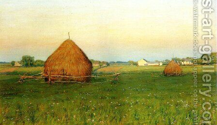 Landscape with Haystacks by Henry Golden Dearth - Reproduction Oil Painting