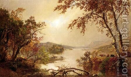 Greenwood Lake I by Jasper Francis Cropsey - Reproduction Oil Painting