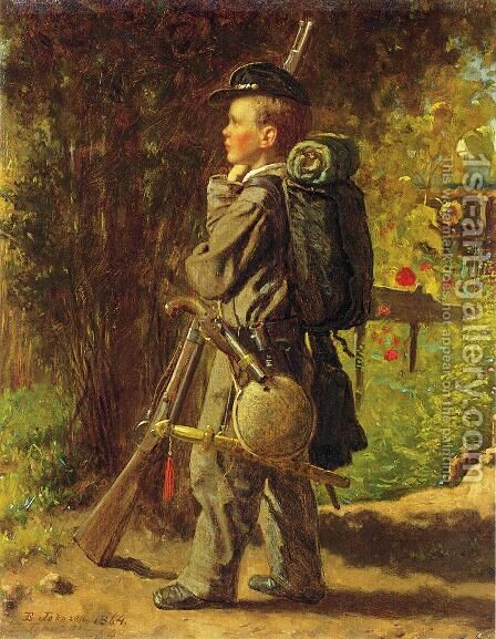 The Little Soldier by Eastman Johnson - Reproduction Oil Painting