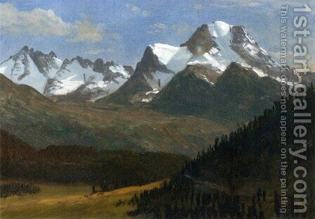 Mountain Landscape III by Albert Bierstadt - Reproduction Oil Painting