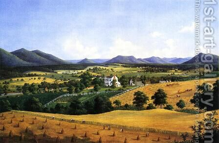Bellevue, The Lewis Homestead, Salem, Virginia by Edward Beyer - Reproduction Oil Painting