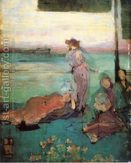 "Sketch for ""The Balcony"" by James Abbott McNeill Whistler - Reproduction Oil Painting"