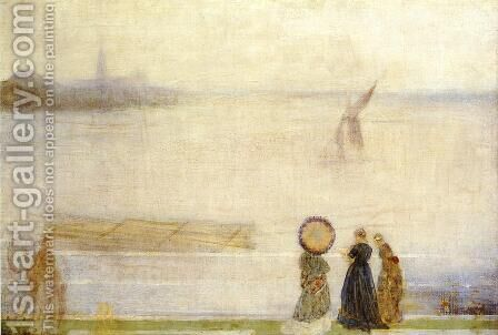 Battersea Reach from Lindsey Houses by James Abbott McNeill Whistler - Reproduction Oil Painting