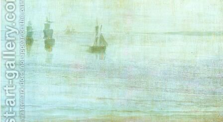 Nocturne: the Solent by James Abbott McNeill Whistler - Reproduction Oil Painting