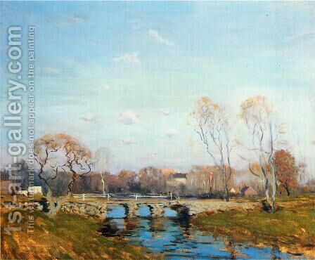 The Old Bridge at Bridgewater, Massachusetts by Arthur C. Goodwin - Reproduction Oil Painting