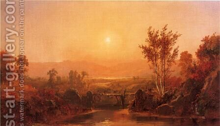 Autumn Light on the Ramapo River by Jasper Francis Cropsey - Reproduction Oil Painting