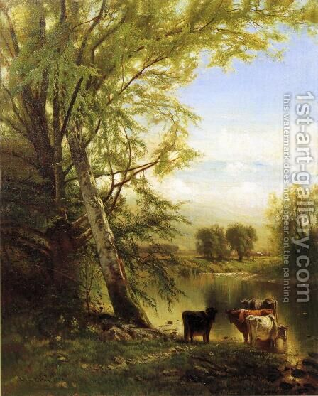Pastoral Landscape by Arthur Parton - Reproduction Oil Painting