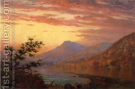 Sunset, Adirondack Lake by Homer Dodge Martin - Reproduction Oil Painting