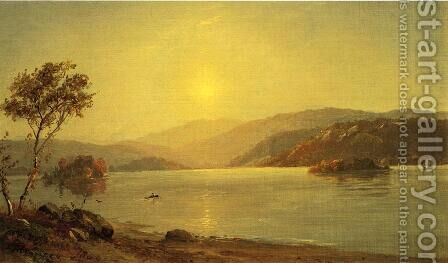 Autumn by the Lake I by Jasper Francis Cropsey - Reproduction Oil Painting