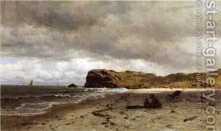 Bass Rocks, Near Gloucester, Massachusetts by James Craig Nicoll - Reproduction Oil Painting