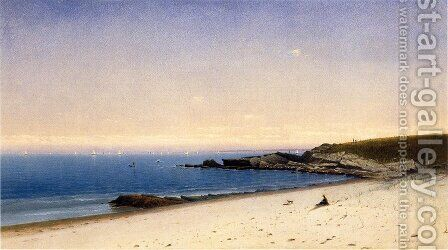 Beach at Newport, Rhode Island by James Augustus Suydam - Reproduction Oil Painting