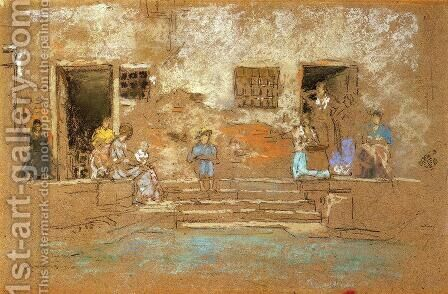 The Steps by James Abbott McNeill Whistler - Reproduction Oil Painting