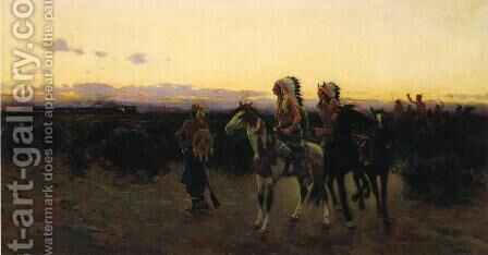 The White Mans Trail by Henry Farny - Reproduction Oil Painting