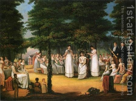 The Crowning of Flora by Jacob Marling - Reproduction Oil Painting