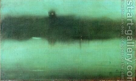 Nocturne: Grey and Silver by James Abbott McNeill Whistler - Reproduction Oil Painting