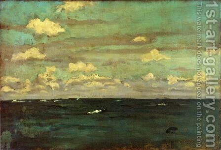 Violet and Siilver: A Deep Sea by James Abbott McNeill Whistler - Reproduction Oil Painting
