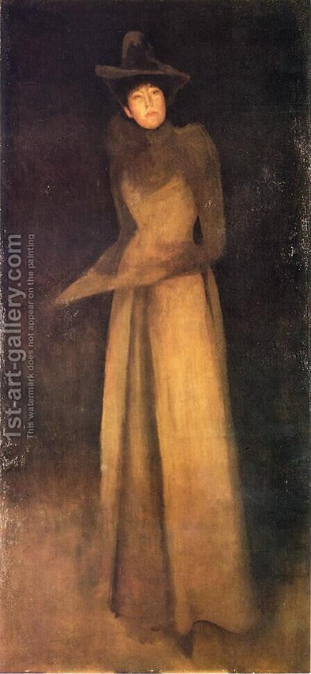 Harmony in Brown: The Felt Hat by James Abbott McNeill Whistler - Reproduction Oil Painting