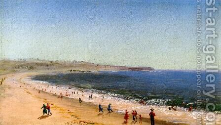 Easton's Beach, Newport, Rhode Island by Charles DeWolf Brownell - Reproduction Oil Painting