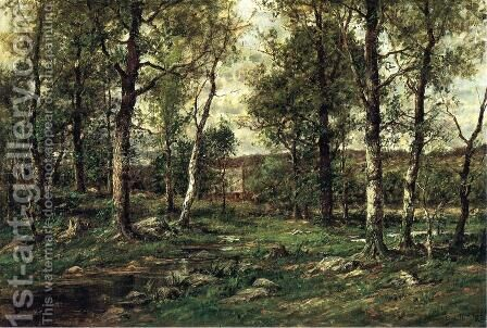Landscape with Birch Trees, Scalp Level by Charles Linford - Reproduction Oil Painting