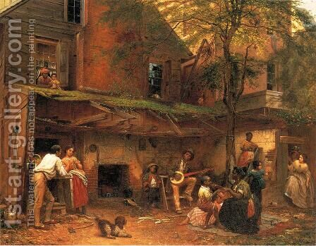Life in the South by Eastman Johnson - Reproduction Oil Painting