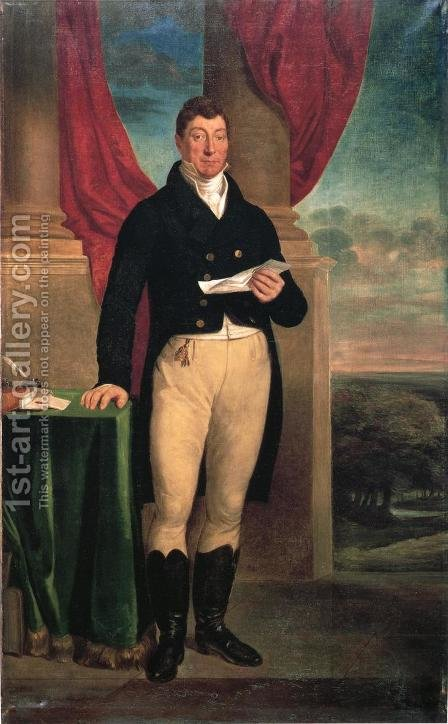 The Marquis de Lafayette by Edward F. Peticolas - Reproduction Oil Painting