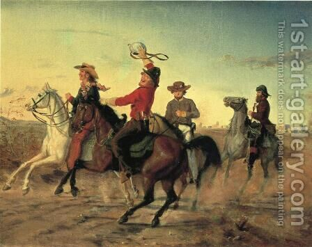 The Terry Rangers by Carl G. Von Iwonski - Reproduction Oil Painting