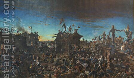 Dawn at the Alamo by Henry Arthur McArdle - Reproduction Oil Painting