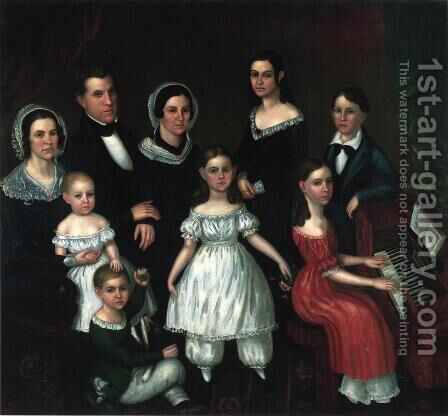 Lewis G. Thompson Family by Horace Rockwell - Reproduction Oil Painting