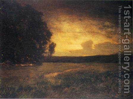 Sunset in the Marshes by Alexander Helwig Wyant - Reproduction Oil Painting