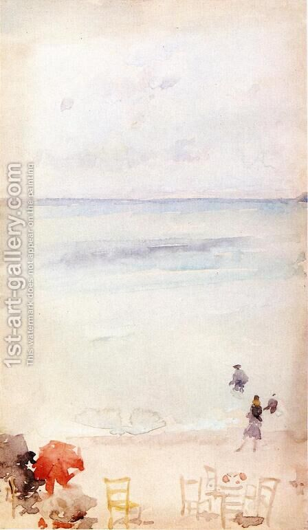 Note in Opal - The Sands, Dieppe by James Abbott McNeill Whistler - Reproduction Oil Painting