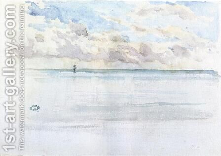Seascape, Dieppe by James Abbott McNeill Whistler - Reproduction Oil Painting