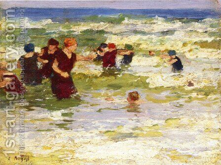At the Beach II by Edward Henry Potthast - Reproduction Oil Painting