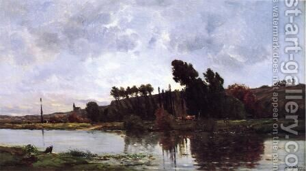 The Banks of a River by Hippolyte Camille Delpy - Reproduction Oil Painting