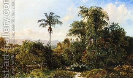 Cuban Landscape by Edmund Darch Lewis - Reproduction Oil Painting