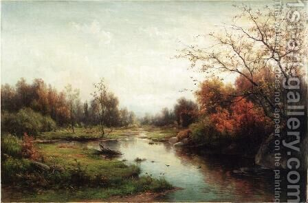 Sprangling Brook by Hendrik-Dirk Kruseman van Elten - Reproduction Oil Painting