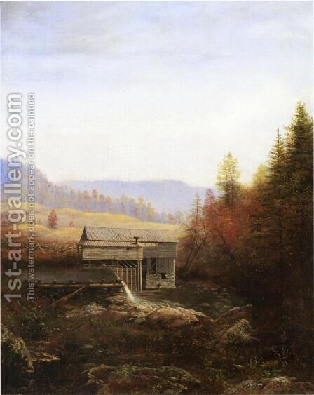 The Old Saw Mill by James Hope - Reproduction Oil Painting