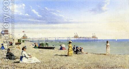 Plage de Brighton by Conrad Wise Chapman - Reproduction Oil Painting