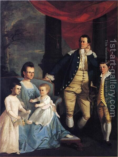 The Archibald Bulloch Family by Henry Benbridge - Reproduction Oil Painting