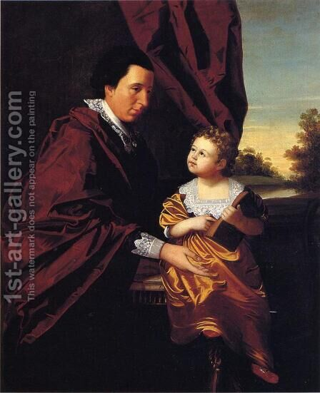 Thomas Middleton of Crowfield and His Daughter Mary by Henry Benbridge - Reproduction Oil Painting