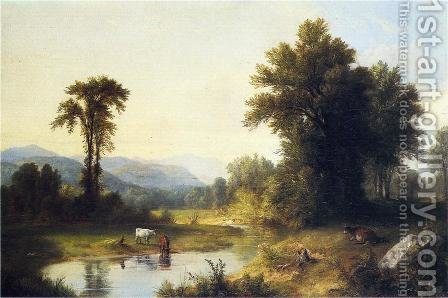 Summer Stream by Asher Brown Durand - Reproduction Oil Painting
