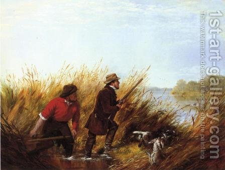 Duck Shooting: A Good Shot by Arthur Fitzwilliam Tait - Reproduction Oil Painting