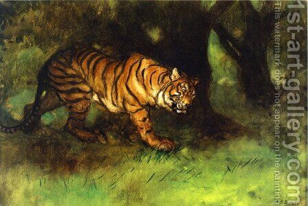 The Tiger by Arthur Bowen Davies - Reproduction Oil Painting