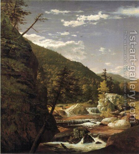 Mountain Pools by Gottlieb Daniel Paul Weber - Reproduction Oil Painting