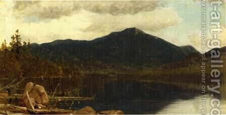 Mount Whiteface from Lake Placid by Sanford Robinson Gifford - Reproduction Oil Painting