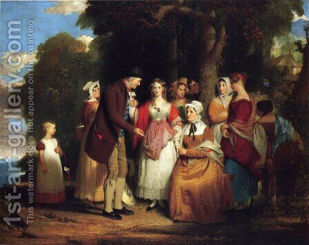 A Domestic Affliction by Benjamin West - Reproduction Oil Painting