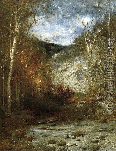 Rocky Ledge, Adirondacks by Alexander Helwig Wyant - Reproduction Oil Painting