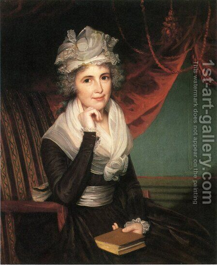 Mrs. John Rogers (Elizabeth Rodman Rogers) by James Earle - Reproduction Oil Painting