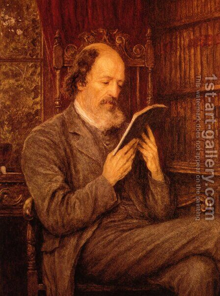 Alfred Lord Tennyson by Helen Mary Elizabeth Allingham, R.W.S. - Reproduction Oil Painting